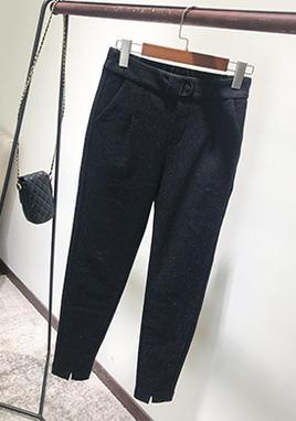 毛呢裤子羊毛萝卜裤 SS2233
