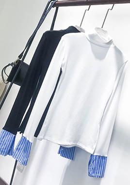 衬衫袖半高领打底衫 SS2021