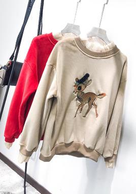 小鹿款金狐绒卫衣 SS2008