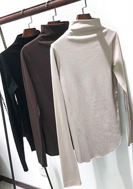 半高领加绒保暖打底衫女 SS2216