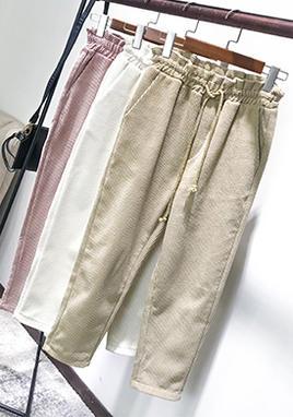 灯芯绒裤子女裤 SS2025