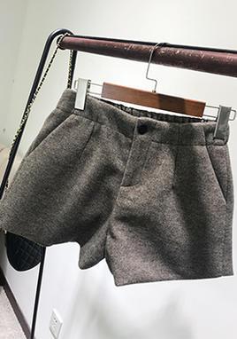 毛呢短裤打底呢子靴裤 SS2236