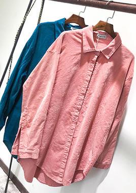 灯芯绒衬衫女长袖宽松 SS2215