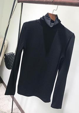半高领黑色打底衫女长袖 SS2237